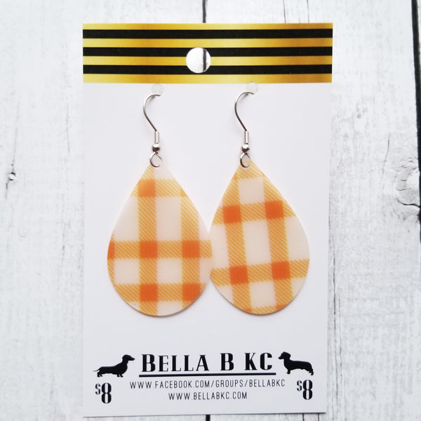 JELLY Orange Plaid