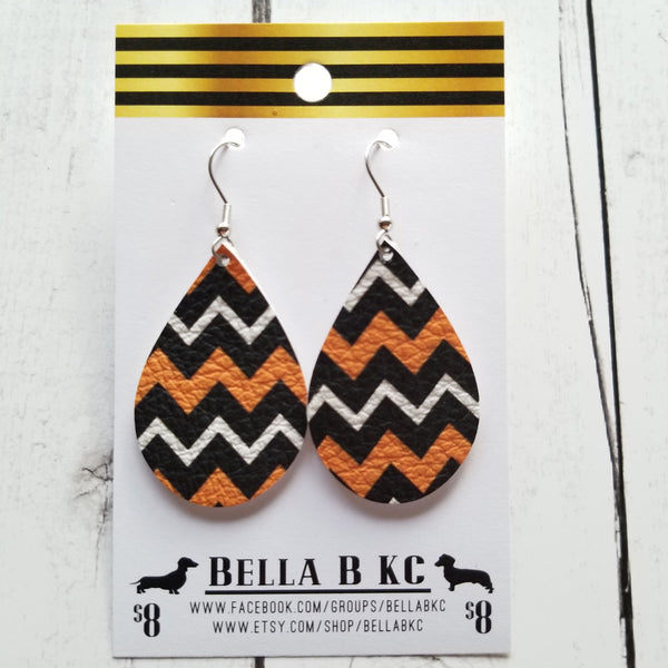 GENUINE Halloween Chevron Orange Black