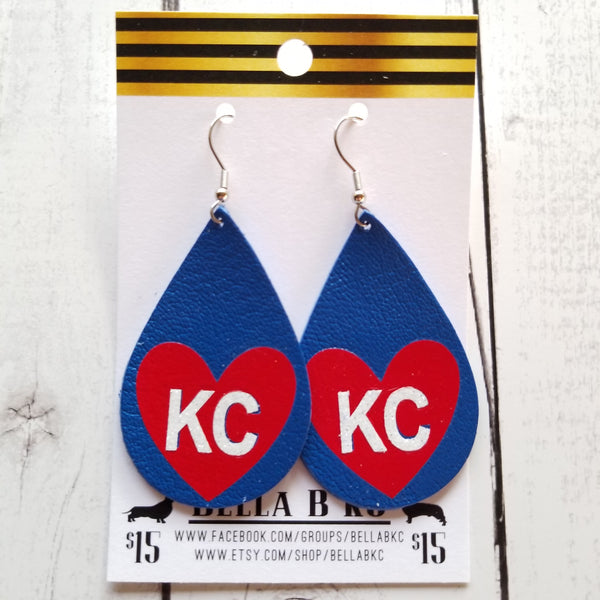 GENUINE Sports Kansas City I Heart KC Red White & Blue