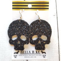 GENUINE Glitter Skull Black