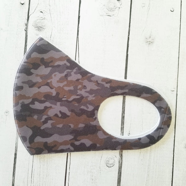 Mask - Navy & Brown Camo