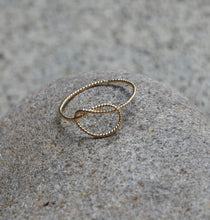 Load image into Gallery viewer, 14K Gold-filled Love knot ring