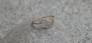 14K Gold-filled Love knot ring