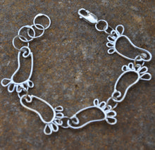 Load image into Gallery viewer, Sterling Silver Tarheel Bracelet and Earrings