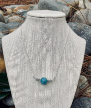 Load image into Gallery viewer, Sterling Silver Amazonite bead with Labradorite beads as bookends