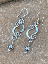 Load image into Gallery viewer, Sterling Silver Double Half Moon earrings