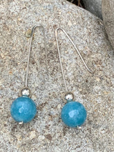 Load image into Gallery viewer, Sterling Silver Drop Amazonite bead earring