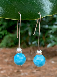 Sterling Silver Drop Amazonite bead earring