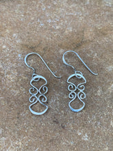 Load image into Gallery viewer, Sterling Silver Flat Swirl Earring
