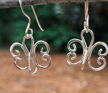 Load image into Gallery viewer, Sterling Silver Butterfly earrings
