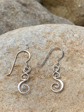Load image into Gallery viewer, Sterling Silver Half Moon earrings