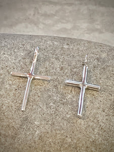 Sterling Silver Cross, 1 1/4""