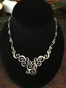 Sterling Silver Half-Moon Necklace