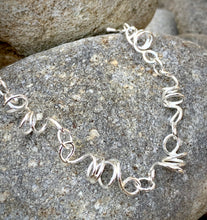 Load image into Gallery viewer, Sterling Silver corkscrew bracelet