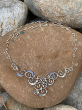 Load image into Gallery viewer, Sterling Silver Half-Moon Necklace