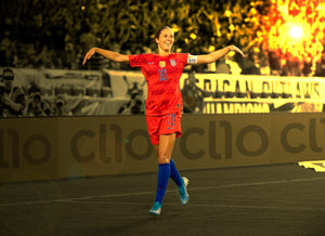 Carli Lloyd doing the Fly Eagle Fly dance