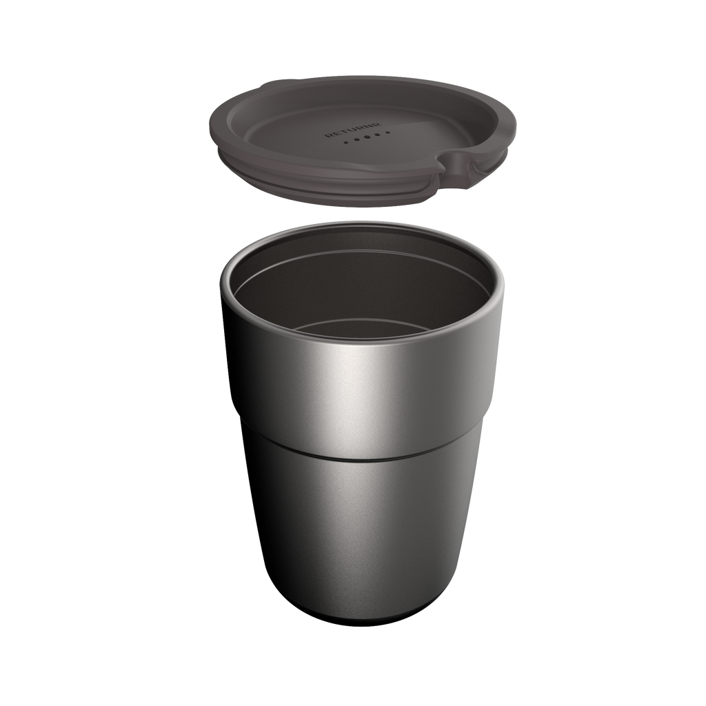 Returnr Cup - 12oz (w/ Warm Grey Lid)