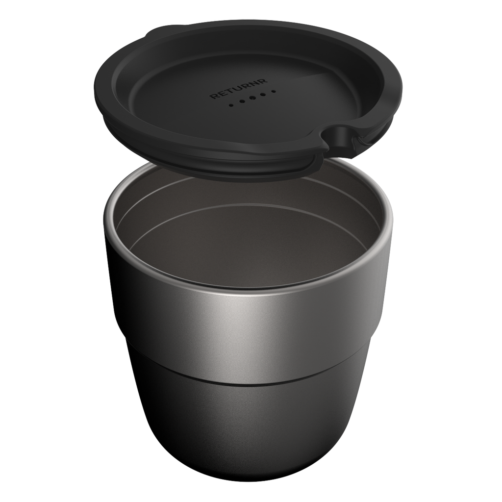 Returnr Cup - 8oz (w/ Black Lid)