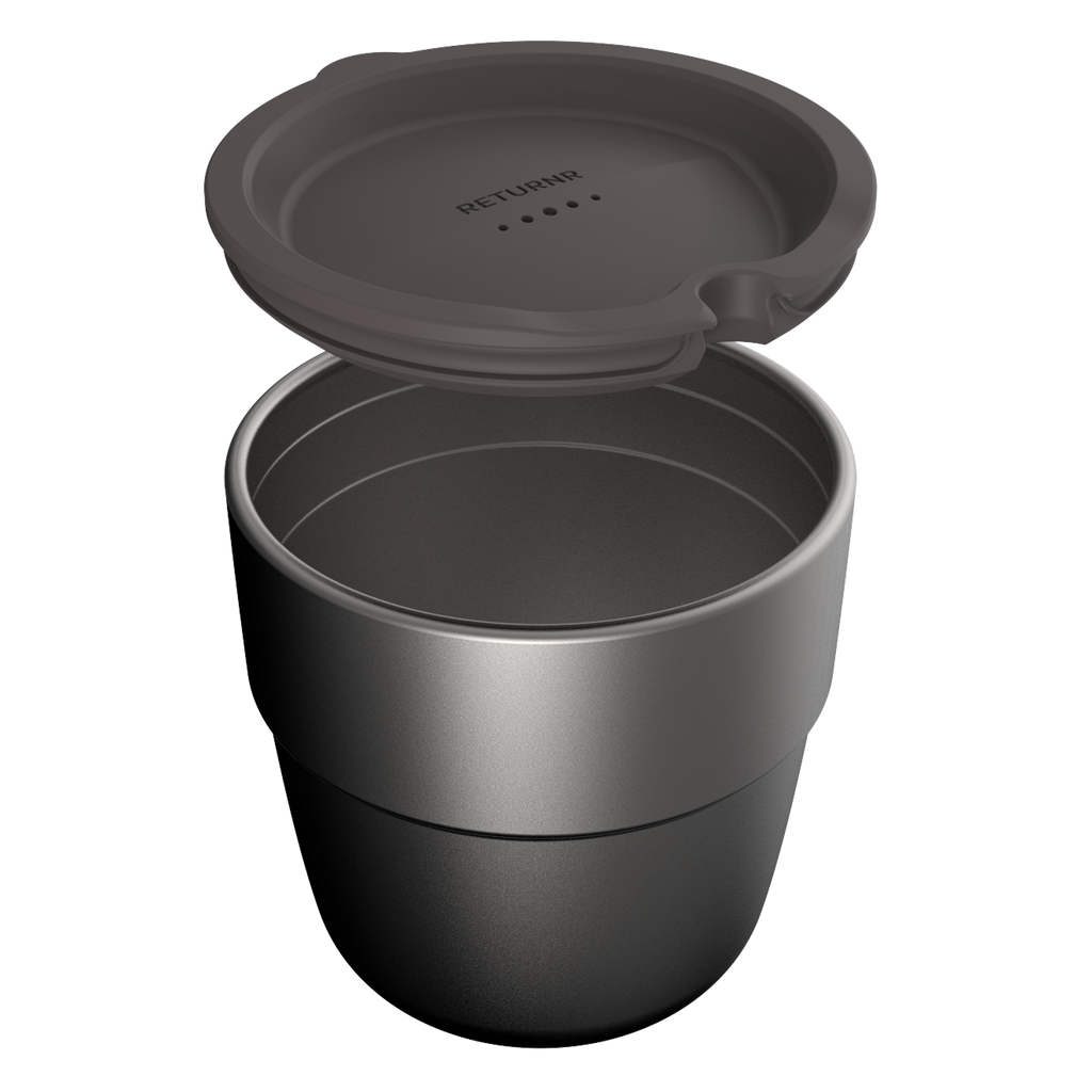 Returnr Cup - 8oz (w/ Warm Grey Lid)