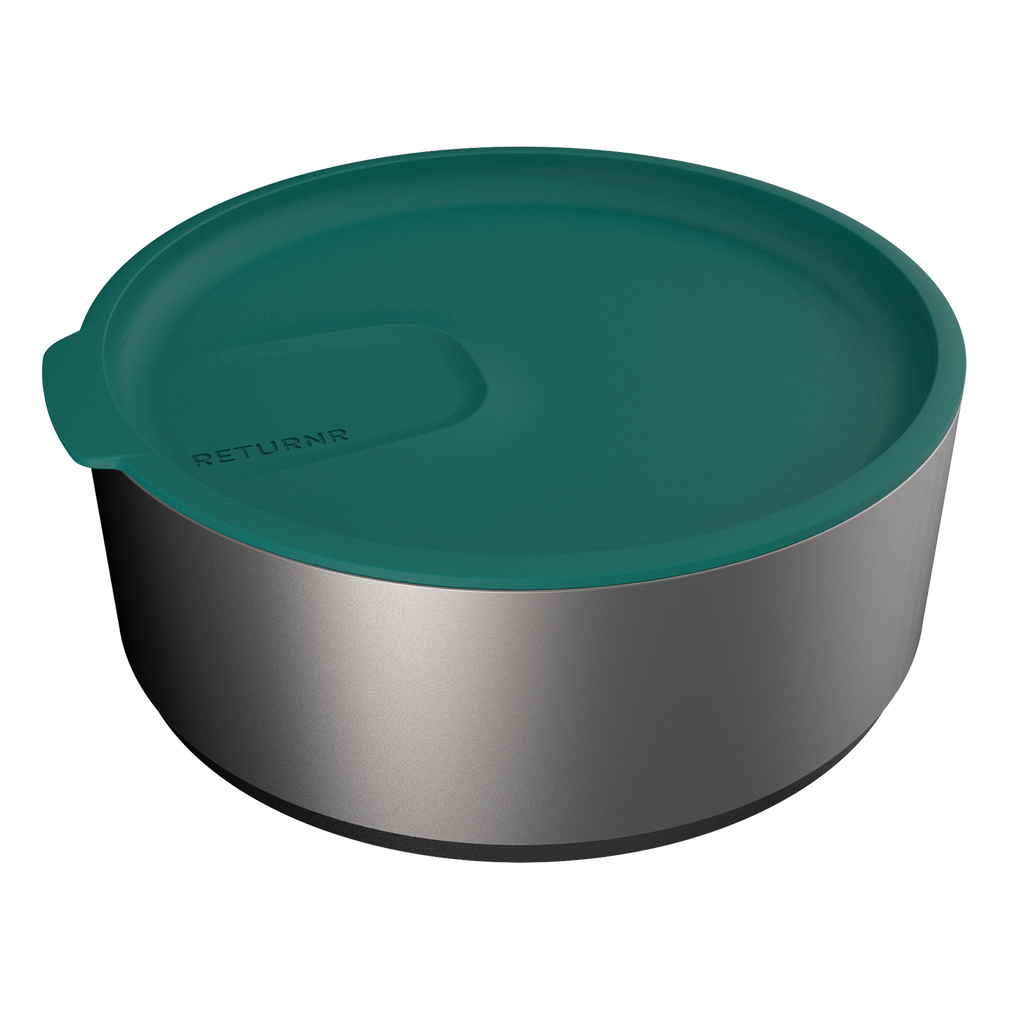Returnr Bowl stackable - 1ltr (w/ Ocean Green Lid)