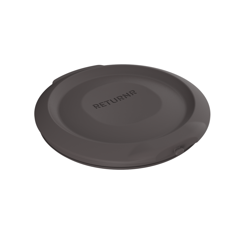Reusable silicone canister lid WARM GREY