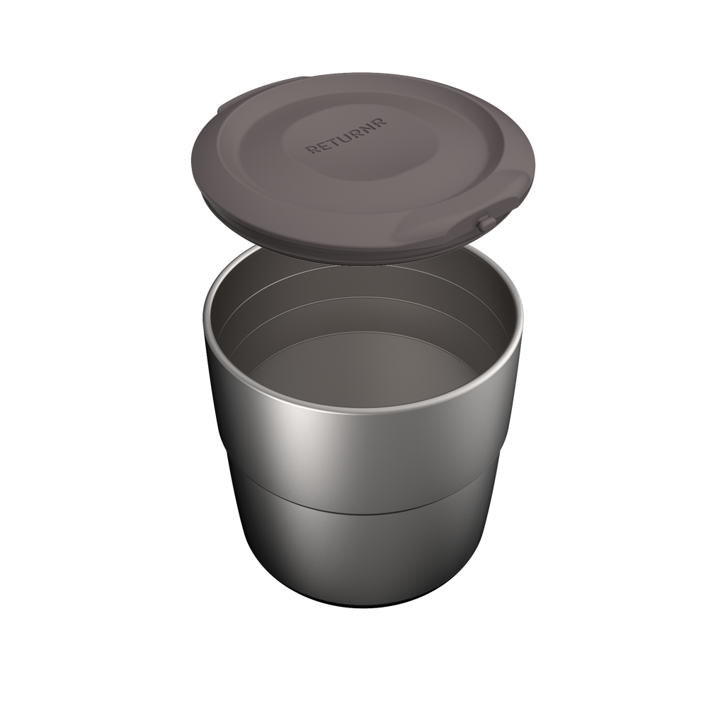 Returnr Canister - 700ml (w/ Warm Grey Lid)