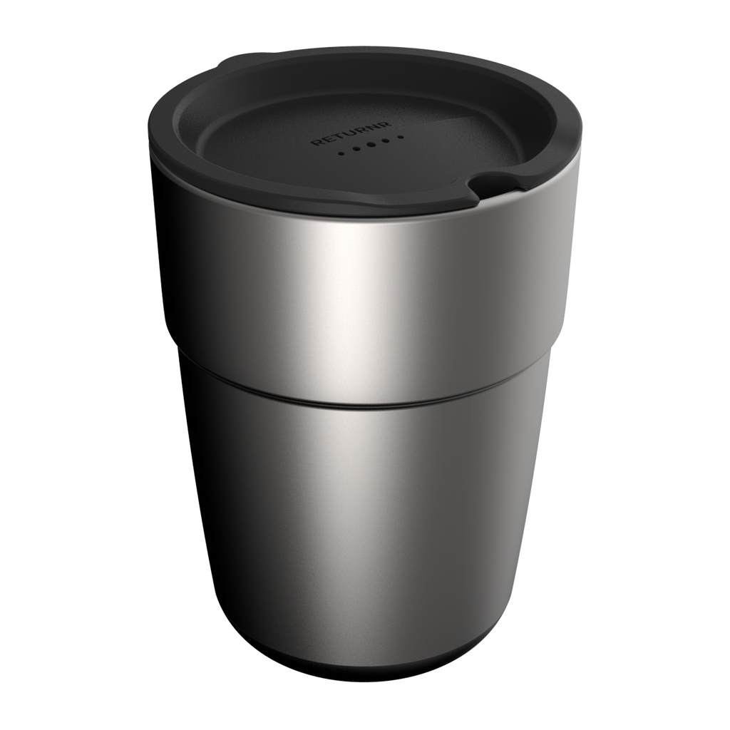Reusable silicone sipper lid BLACK