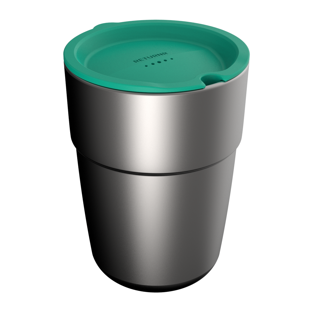 Reusable silicone sipper lid GREEN