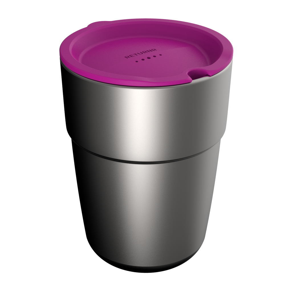 Reusable silicone sipper lid PINK