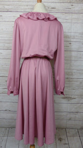 80's Dusty Rose Dress