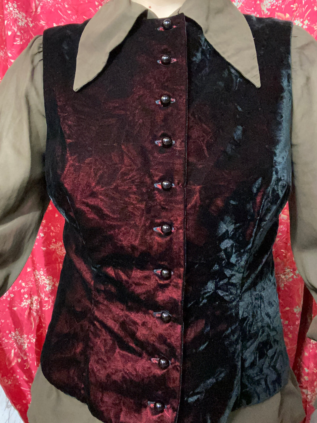 Marilyn Sainty Crushed Velvet Vest