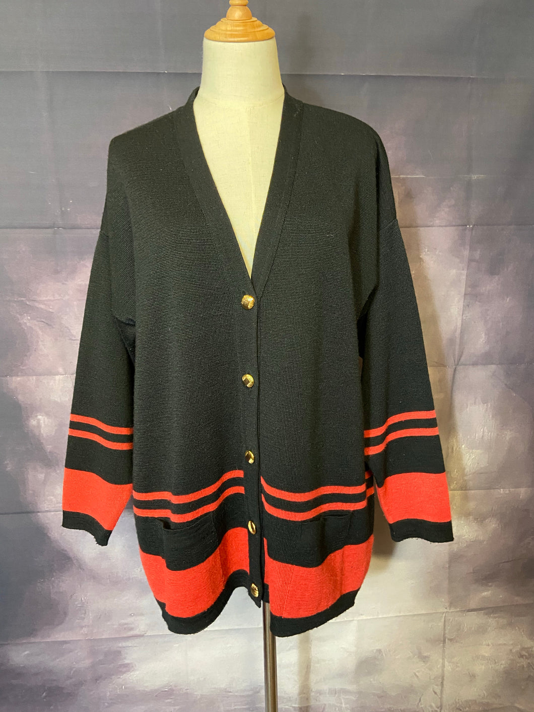 Scottish Black & Red Cardi