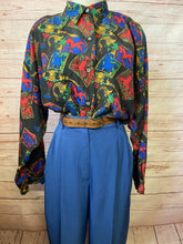 Load image into Gallery viewer, Bonjour Silk Blouse size 16