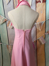 Load image into Gallery viewer, 70s Candy Pink Halter Neck size 6/8
