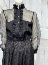 Load image into Gallery viewer, Pinstripe Chiffon Dress