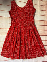 Load image into Gallery viewer, Vintage Addiction Polka dot Dress size 14