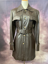 Load image into Gallery viewer, My Chocolate Leather Trench