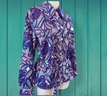 Load image into Gallery viewer, Dawn Purple Paisley Shirt