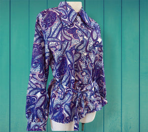 Dawn Purple Paisley Shirt