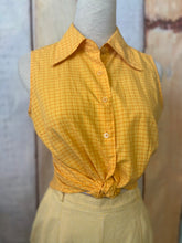 Load image into Gallery viewer, Marigold Gingham Shirt size 10