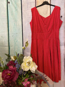 Vintage Addiction Polka dot Dress size 14