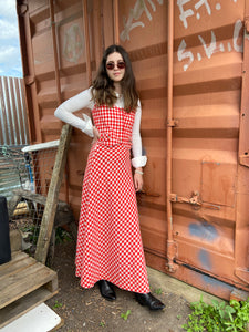 70s Gingham 3 Piece