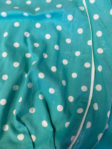 1950s Aqua polka dot Dress size 6