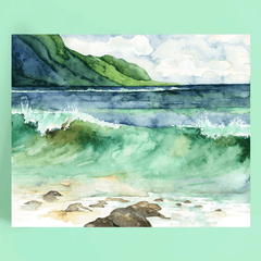 Watercolor Canvas Painting 01