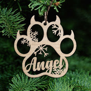 Personalized Dog/Cat Paw Christmas Ornament