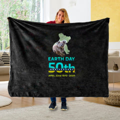 Global Earth Unique Fleece Blanket I01