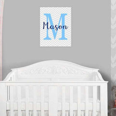 Monogram Nursery Canvas Art 08