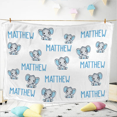 Baby Swaddle Fleece Blanket-elephant