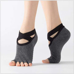 Yoga Socks for Women Grip Non Slip Toeless Half Toe Socks - Miss Comfy