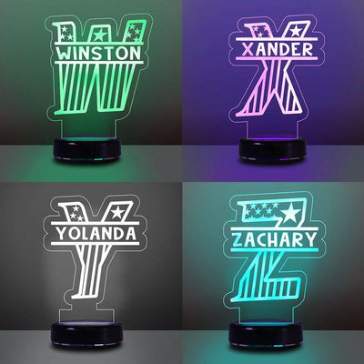 Custom Initial & Name Children's/7 Colors 3D Night Light 05